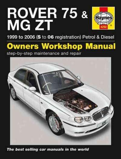 hayes car manuals 2006 land rover range rover transmission control rover 75 mg zt 1999 2006 haynes service repair manual uk sagin workshop car manuals repair