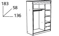 armoire chambre fille 757 chambre 224 coucher bois pin lasur 233 framboise 4 233 l 233 ments