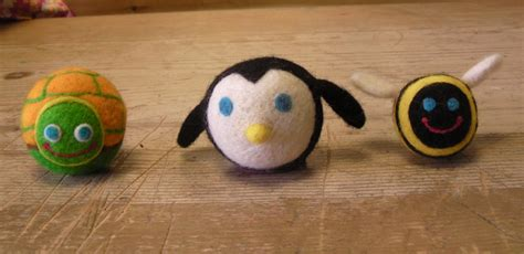 Handmade Felt Toys - felted balls plus imagination handmade felt toys