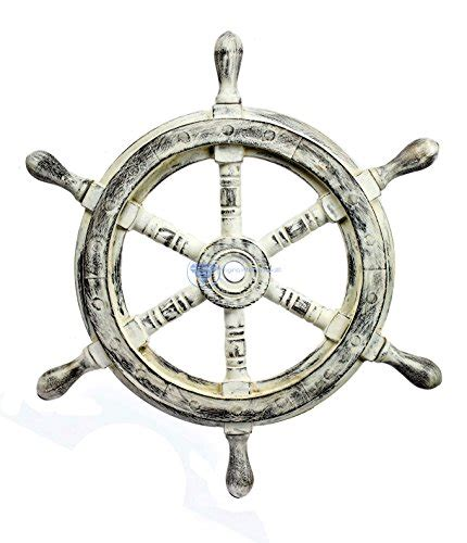 nagina international nautical handcrafted wooden ship wheel home wall decor