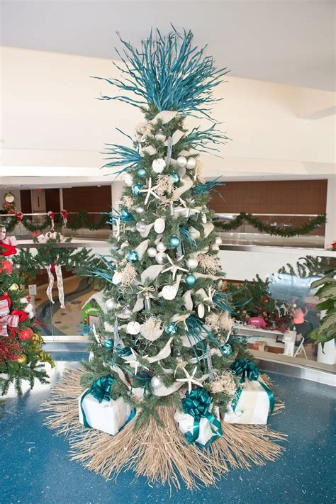 beach themed tree skirt tree toppers ideas celebration all about