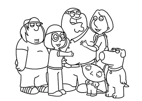 family guy coloring pages games family guy coloring pages griffin family coloringstar