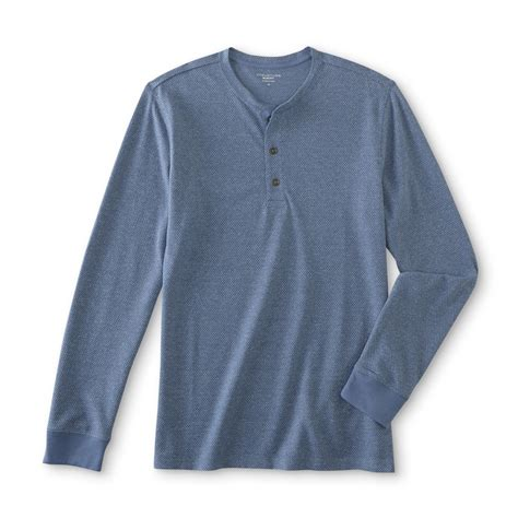 structure mens thermal henley shirt