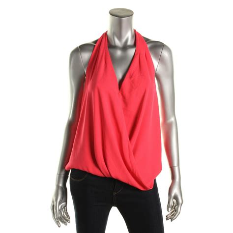 Halter Shirt aqua 5911 womens sleeveless halter halter top shirt bhfo