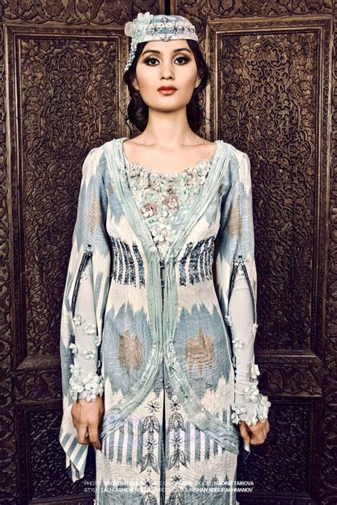 uzbek silk ikat dress ethnic in fashion uzbekistan 44 best central asian style fashion editorials images on