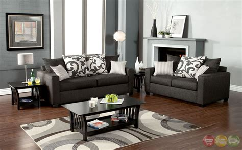 Contemporary Living Room Set Colebrook Contemporary Medium Gray Living Room Set With Pillows Sm3010