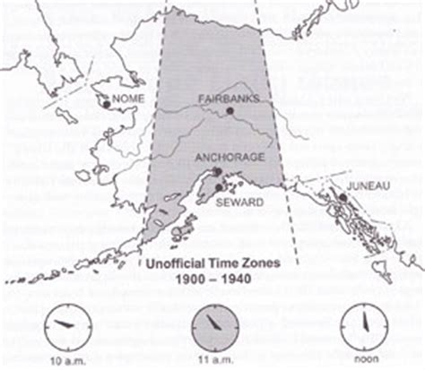 us time zone map with alaska 1940 establishments in alaska