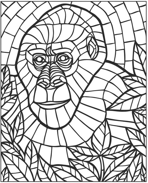 mosaic pattern worksheets mosaic coloring pages bestofcoloring com