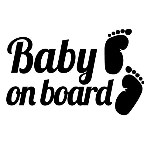 Auto Decals Stickers by Sticker Auto Baby On Board Et Pieds Stickers Auto
