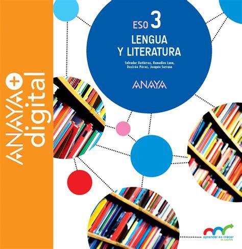 lengua y literatura 2 8469812742 lengua y literatura 3 eso anaya digital digital book blinklearning