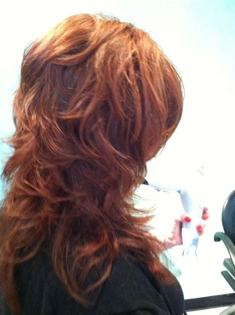 pictures of back of choppy layered hair back view of paula s short layers on long hair hair by
