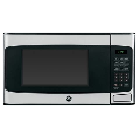 Microwave Countertop Stainless Steel by Shop Ge 1 1 Cu Ft 950 Watt Countertop Microwave Stainless Steel At Lowes