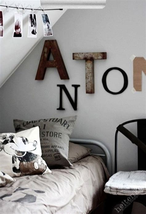 industrial letters in room masons big boy room