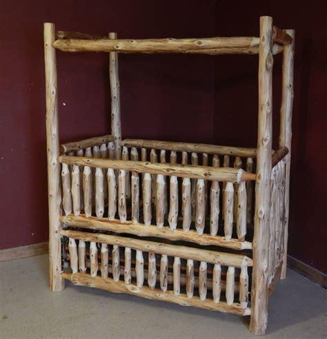Log Baby Furniture And Childrens Log Furniture Barn Wood Rustic Log Baby Crib