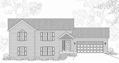 lynbrook house plan pretty traditional style bi level house plan lynbrook b
