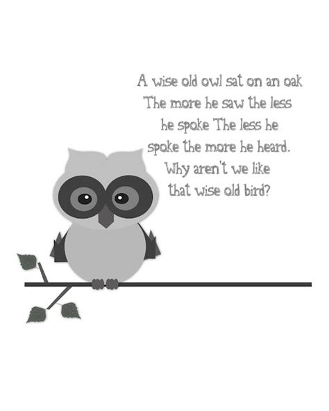 printable owl quotes free printable saturday wise old owl digital designs