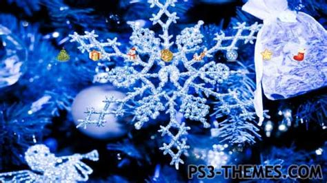 christmas themes in blue ps3 themes 187 holiday seasonal 187 page 3