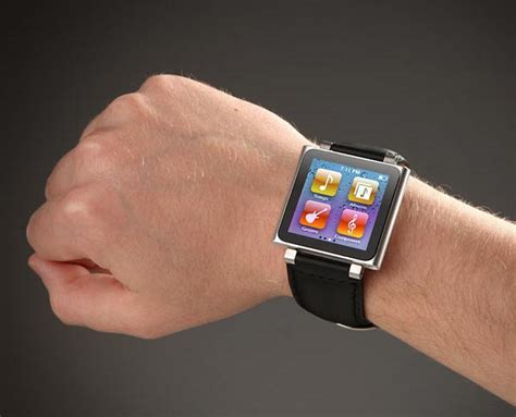 Ipod Nano 6th Like Iwatch Rubber ipod nano 6g wristband doubled as bottle opener gadgetsin