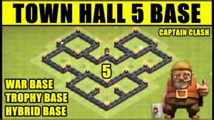 Clash of clans town hall 5 war hybrid trophy base coc th5 base
