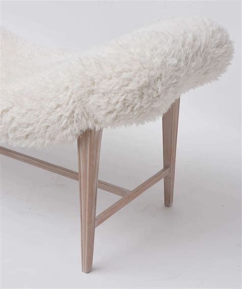 faux fur bench faux fur curved bench for sale at 1stdibs