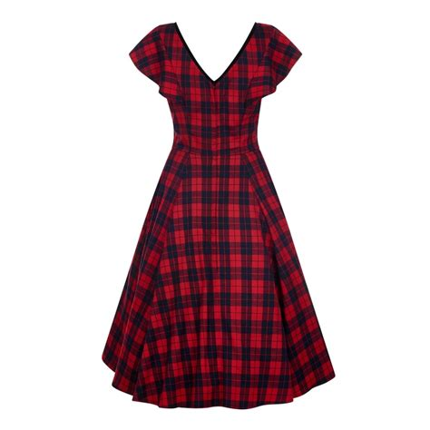 check swing collectif vintage arabella ettrick check swing dress