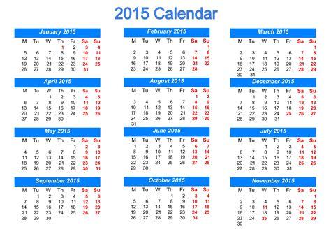 Calendar For 2015 Printable 2015 Calendar