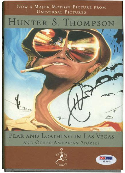 lot detail hunter s thompson signed quot fear and loathing