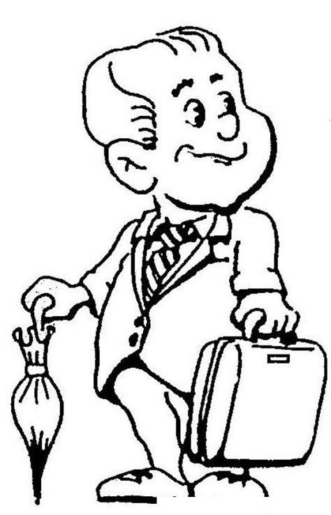 imagenes de optimismo para colorear vendedor optimista dibujo de vendedor entusiasta con su