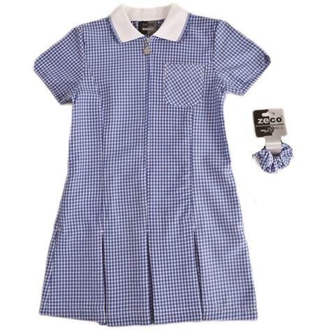 Gingham Panel A Line Dress a line gingham school dresses school 247