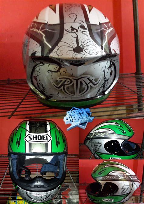 Ink Cl Max Repaint Shoei X Spirit helm modifikasi ronita digital printing