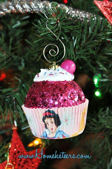 disney princess cupcake christmas ornament