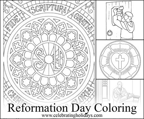 5 Solas Coloring Page by Coloring Pages For Reformation Day Celebrating Holidays