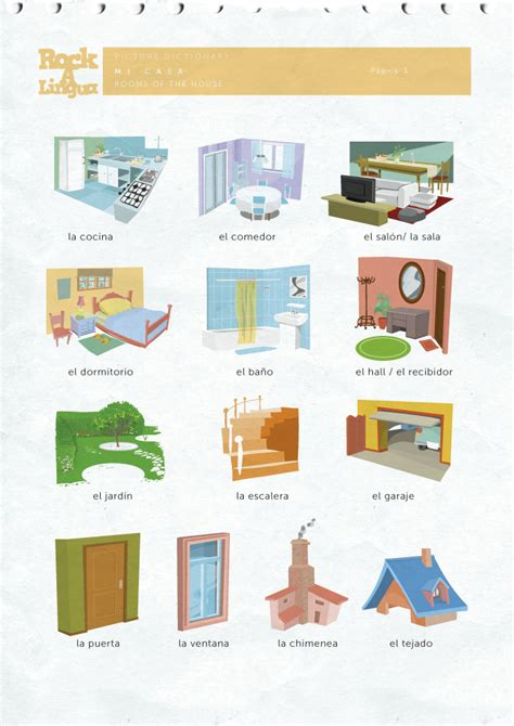 my house is your house in spanish rooms of the house picture dictionary rockalingua