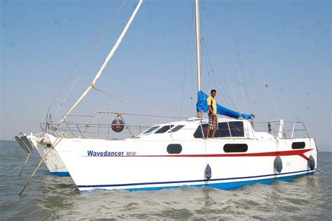 catamaran boat india sailing at gateway of india mumbai wave dancer catamaran