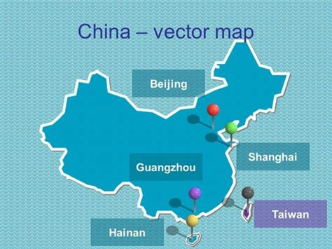 Free Powerpoint Map Of China China Ppt Template