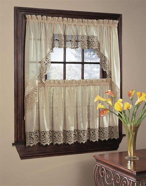 bali lace 5 kitchen curtain tier set curtainworks