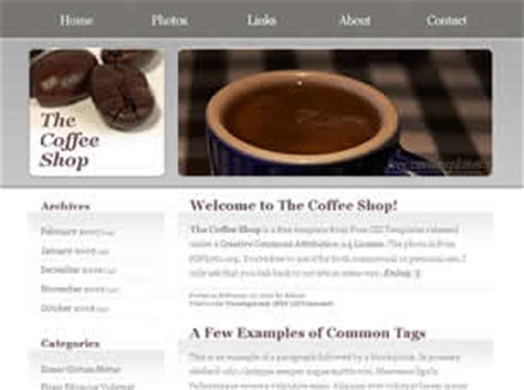 Free Food Or Drink Website Templates 67 Free Css Free Coffee Website Templates