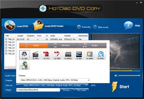 file format dvd audio hotdisc dvd copy rip dvd to video audio format