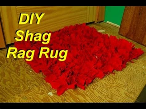 how to make a shag rag rug from shirts easily