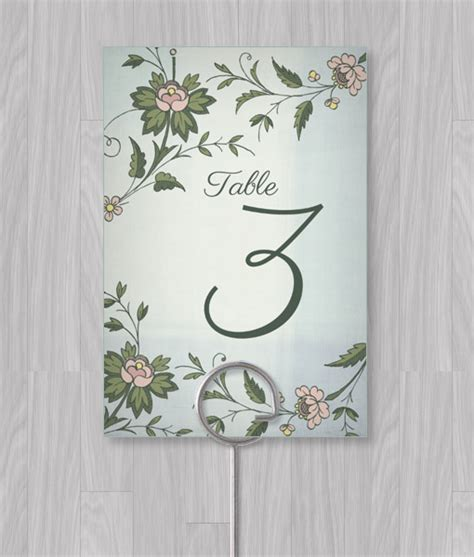 table number template word images