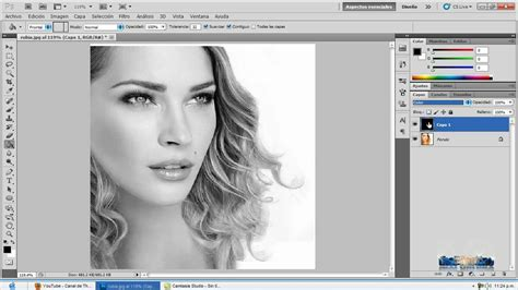 hacer imagen blanco y negro en gimp photoshop cs5 cambiar imagen o fotografia de color a