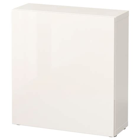 besta 60x20x64 best 197 shelf unit with door white selsviken high gloss