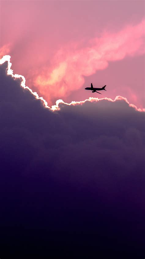 wallpaper iphone airplane plane above sunset clouds iphone 6 wallpaper wallpaper