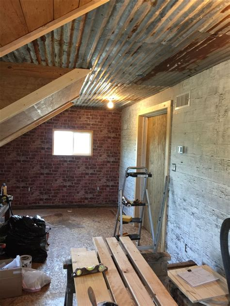 rustic tin ceiling  brick wall rustic tin ceilings