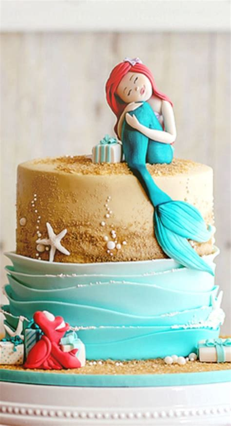 94 best mermaid cakes images on mermaids conch fritters and mermaid cakes