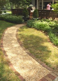 Pea Gravel Walkway Flagstone Stepping Stones With Pea Gravel