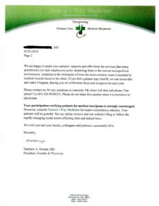 Patient Introduction Letter Letter For Your Delaware Doctornature S Way Medicine Marijuana Physicians