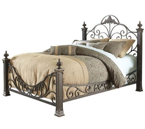 qvc beds fashion bed group baroque gilded slate queen bed qvc com