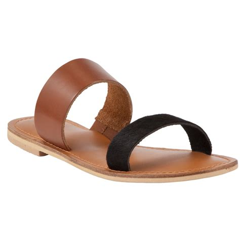 brown two sandals lewis collection weekend by jersey two sandals