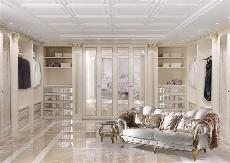 customizable walk in closet in classic luxury style